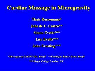 Cardiac Massage in Microgravity