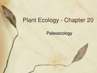 Plant Ecology - Chapter 20