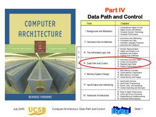 Part IV Data Path and Control