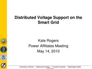 Distributed Voltage Support on the Smart Grid
