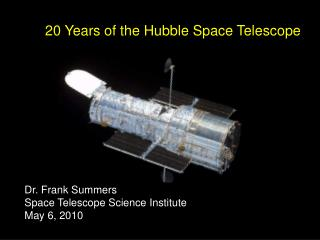 20 Years of the Hubble Space Telescope