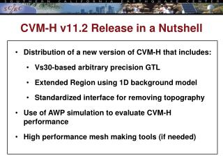 CVM-H  v11.2  Release in a Nutshell