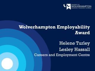 Wolverhampton Employability Award