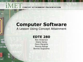 Computer Software A Lesson Using Concept Attainment