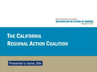 The California Regional Action Coalition