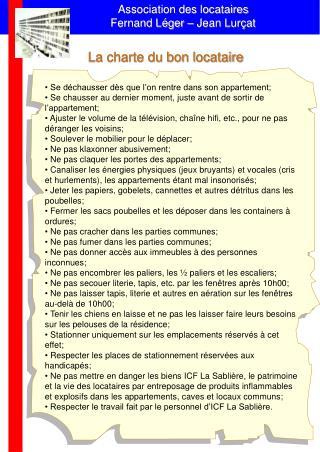 Association des locataires Fernand L�ger � Jean Lur�at