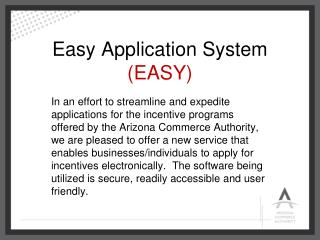 Easy Application System  (EASY)