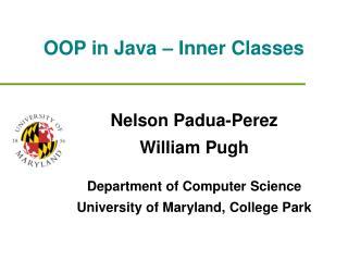 OOP in Java – Inner Classes