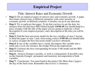 Empirical  Project