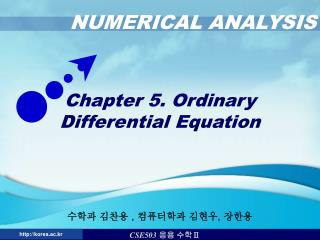 Chapter 5. Ordinary Differential Equation
