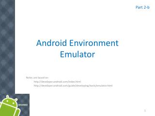Android Environment Emulator
