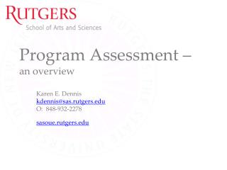 Program Assessment –  an overview