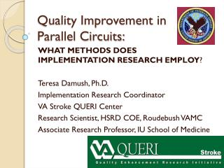 Quality Improvement in  Parallel Circuits: