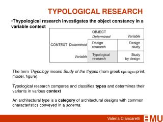 TYPOLOGICAL RESEARCH