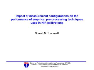 Impact of measurement configurations on the performance of empirical pre-processing techniques used in NIR calibrations