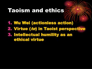 Taoism and ethics