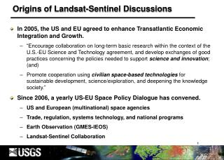 Origins of Landsat-Sentinel Discussions