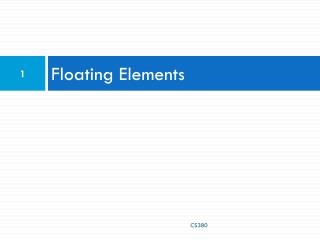 Floating Elements