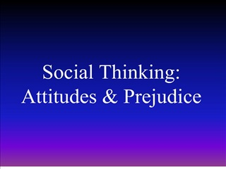Social Thinking: Attitudes  Prejudice