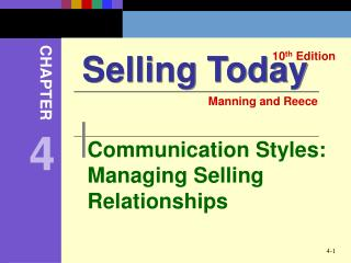 Communication Styles: Managing Selling Relationships