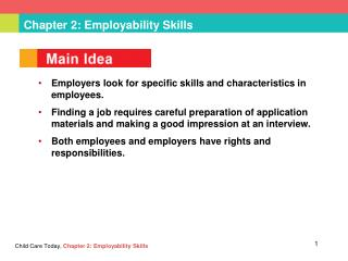 Chapter 2: Employability Skills