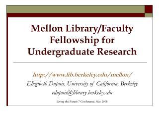Mellon Library/Faculty Fellowship for  Undergraduate Research