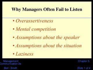 Why Managers Often Fail to Listen