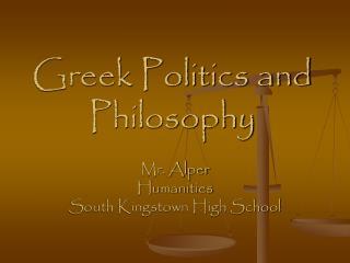 Greek Politics and Philosophy