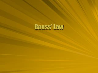 Gauss� Law