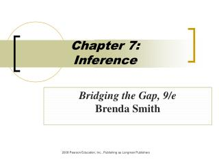 Chapter 7:  Inference
