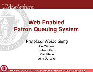 Web Enabled Patron Queuing System