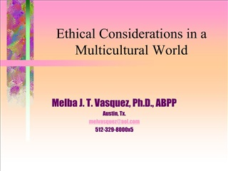 Ethical Considerations in a Multicultural World