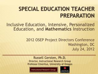 Special Education Teacher Preparation