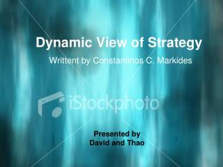 Dynamic View of Strategy