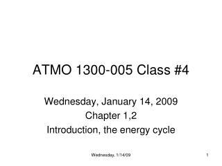 ATMO 1300-005 Class #4