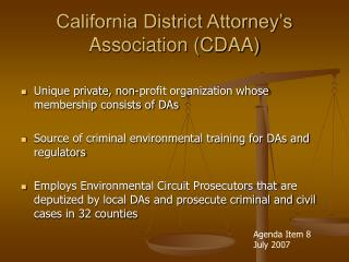 California District Attorney