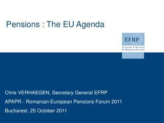 Pensions : The EU Agenda