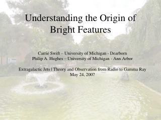 Understanding the Origin of Bright Features