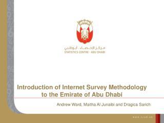 Introduction of Internet Survey Methodology to the Emirate of Abu Dhabi