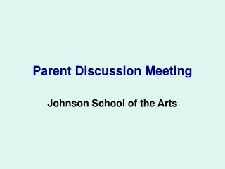 Parent Discussion Meeting
