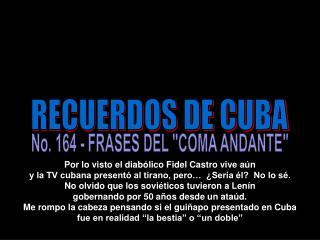 RECUERDOS DE CUBA
