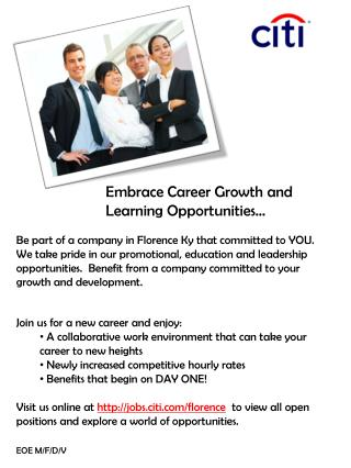 Embrace Career Growth and Learning Opportunities…
