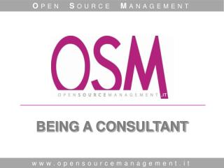 BEING A CONSULTANT