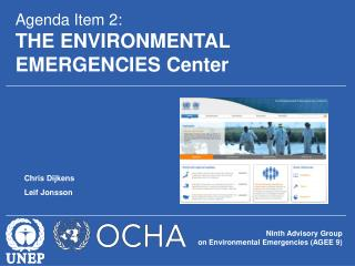 Ninth Advisory Group  on Environmental Emergencies (AGEE 9)