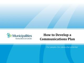 How to Develop a Communications Plan