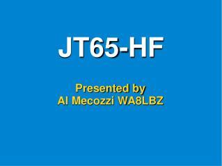 JT65-HF