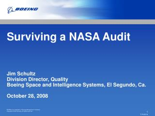 Surviving a NASA Audit