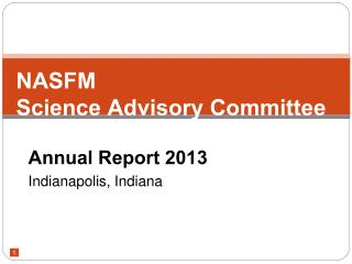 NASFM Science Advisory Committee