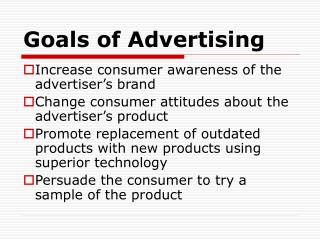 Goals of Advertising