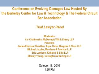 Conference on Evolving Damages Law Hosted By the Berkeley Center ...